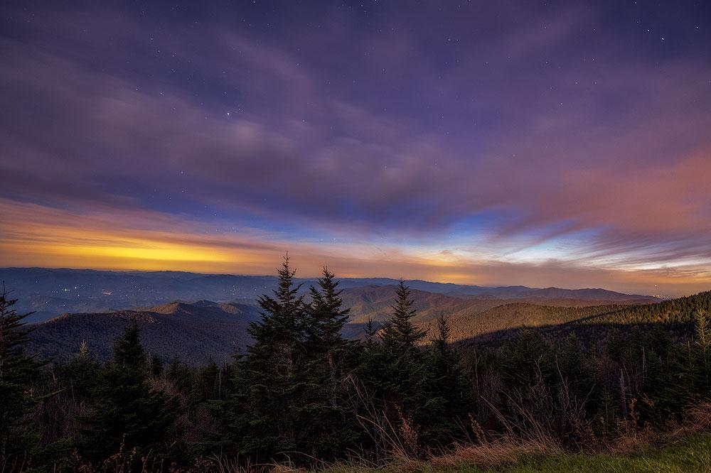 Clingman's Night - Clingman's Dome Great Smoky Mountains ...